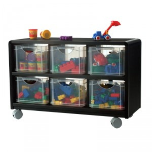 rangement mobile 6 tiroirs en plastique pour enfants. Black Bedroom Furniture Sets. Home Design Ideas