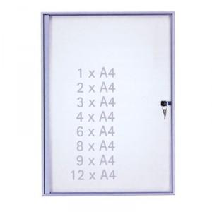 Vitrine d'intérieur extra-plate 2cm pour affichage professionnel, 1 porte battante 2 à 12 A4