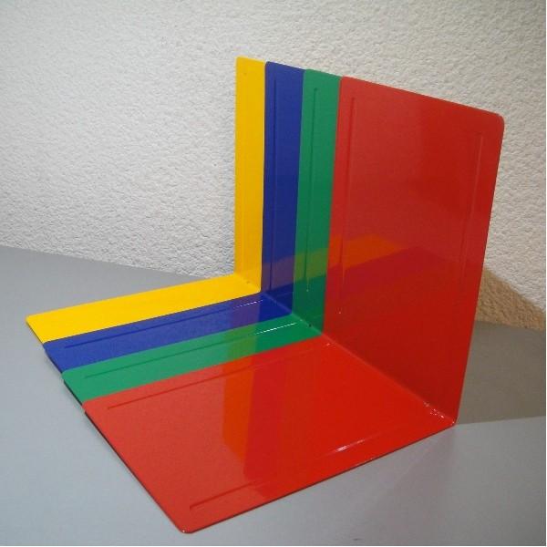 Serre livres tr s grand format en t le d 39 acier couleur p165xh240xl240mm - Tole ondulee bitumee noir rouge vert ...
