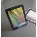 Chevalet plexi avec serrrage du livre ou tablette épais jusqu'à 7cm. H.13x l.4cm