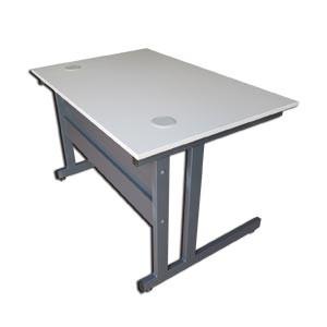 A SAISIR-50% jusqu'à épuisement stock: bureau bois/métal avec façade 120x80cm
