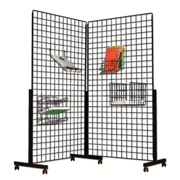 grille d 39 expo sur roulettes. Black Bedroom Furniture Sets. Home Design Ideas