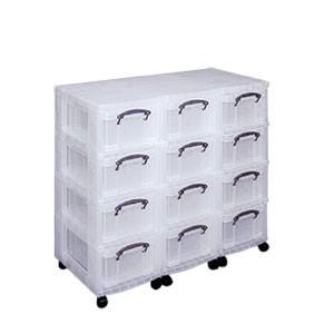 tour de rangement multi tiroirs en plastique sur roulettes. Black Bedroom Furniture Sets. Home Design Ideas