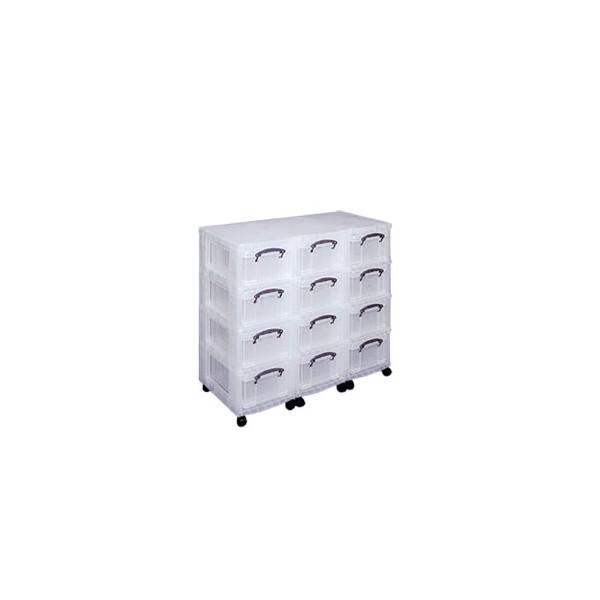 Tour de rangement multi tiroirs en plastique sur roulettes - Boite plastique de rangement sous lit a roulettes ...