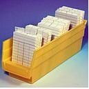 Bac plastique pour fiches, dimensions: L10.5 x H10.1 x P29.8cm 3 Intercalaires