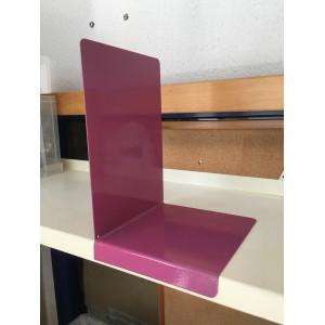 Serre-livres acier TRES GRAND FORMAT avec retour frontal porte-étiquette, angle à gauche, le pack de 6, Coloris ROSE BRUYERE