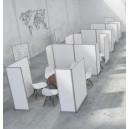 Cloison - panneau d'expo mobile en L sur roulettes: lot de 2 cloisons ( 71+141 xH210cm)