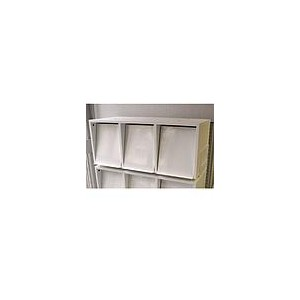 SOLDE Module 3 cases avec réserve pour périodiques/magazines BLANC