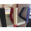 SOLDE porte-étiquette double face en triangle pour serre-livres à pince en plastique JUSQU'A EPUISEMENT DU STOCK