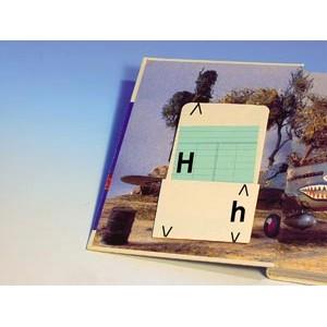 SOLDE Porte-fiches adhésifs en papier, L8.7xH11.4/9.5cm, couleur: crème. Le pack de 500. JUSQU'A EPUISEMENT DU STOCK.