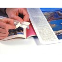 Bandes toutes prêtes en X pour collage de pages (en 4 parties de 1.6cm)