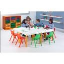 Table enfant + chaises assorties Ultra-résistantes pour activités diverses