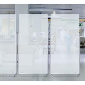 Ecran-cloison de protection au sol , compacte, pour séparer  et cloisonner des espaces