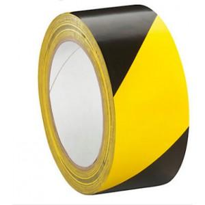 Ruban de marquage au sol hachuré 5cm x 33M , jaune et noir