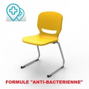 """Chaise """"anti-bactérienne """" avec piétement """"appui sur table"""" pour classes, collectivités"""