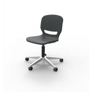 """Chaise """"anti-bactérienne """" avec piétement sur roulettes réglable pour classes, collectivités"""