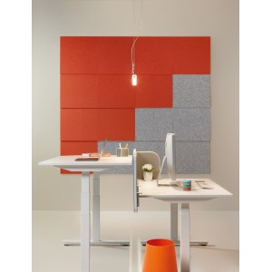Dalle d'affichage acoustique ECO phono-absorbante pour mur ou plafond, 2 formats