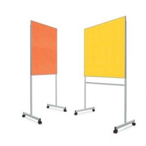 Tableau d'affichage acoustique ECO phono-absorbante sur pied, 2 formats