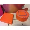 Galette de sol en mousse orange forme losange dim 35cm H7cm