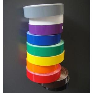 Film PVC adhésif COULEUR pour signalisation 30mmx25m, 10 couleurs au choix (DEWEY).