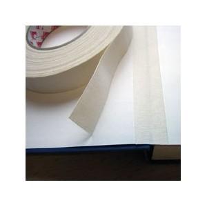 Toile renfort adhésive blanc cassé-écrue en fibranne x 50m.