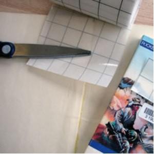 Polyester brillant 23µ de 2 à 15cm en 50m spécial charnières, codes barres ou textes en Braille
