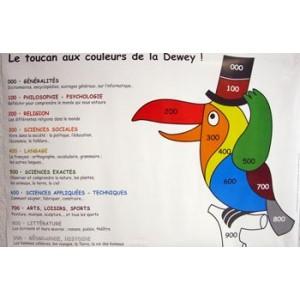 """Affiche """"TOUCAN"""" 40X60cm, classification Dewey, livrée en tube ou plastifiée"""