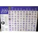 """Affiche """"100 CASES DU SAVOIR"""" 60X84cm, classification Dewey, livrée pliée ou plastifiée"""