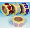 Pastilles adhésives multiusage 8mm en bobine de 1000 12 coloris spéciaux