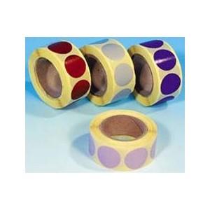Pastilles adhésives multiusage 24mm en bobine de 1000 12 coloris spéciaux