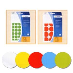 Pastilles 32mm en planches A5 les 480 blanche ou couleur