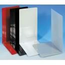 Serre-livres en tôle d'acier, angle simple, 12x24x14cm, le pack de 6