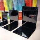 Serre-livres HAUTE QUALITE en plastique noir plusieurs formats, les 6