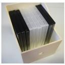 Boîte pan coupé spécial CD en BOIS très stable en bois naturel  SPECIAL CD très stable p20xh22.5xdos16.5cm