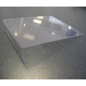 Porte-étiquette 12xh2.5c PVC rigide av/retour frontal passant ss l'étagère, pack de 10