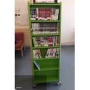 SOLDEE Tour à mangas ou livres de poche 6 niveaux H159xP32xL50 BOIS NATUREL verni s/roulettes