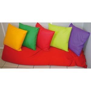 coussin moelleux en tissu 40x40cm lavable pour secteurs jeunesse fournitures cdi. Black Bedroom Furniture Sets. Home Design Ideas