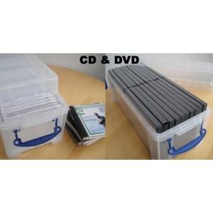 Boite Plastique Special Cd Dvd 6 5l Transl Av Couvercle 430x180x160