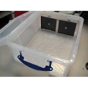 bo te plastique 18l translucide avec couvercle l480 x l390 x h200mm. Black Bedroom Furniture Sets. Home Design Ideas