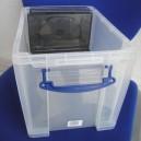 Boîte 19l plastique translucide DVD/FT A4/D.S. l395xp255xh290mm