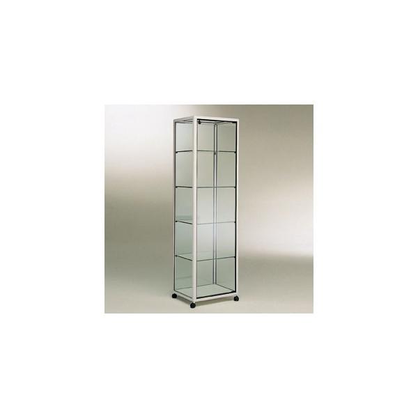 vitrine colonne sur roulettes. Black Bedroom Furniture Sets. Home Design Ideas