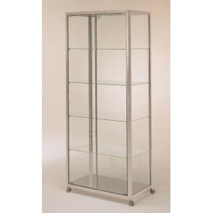 vitrine haute rectangulaire aluminium. Black Bedroom Furniture Sets. Home Design Ideas