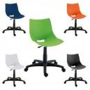 Chaise coque DESIGN en PPP sur socle à roulettes