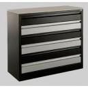 Meuble métallique 6 tiroirs à aménager à la carte avec garnissage des tiroirs en option