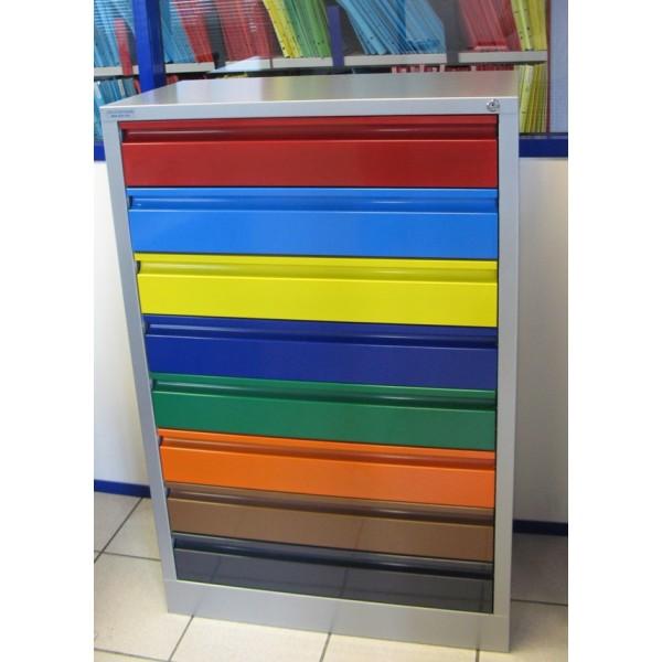 Meuble métallique 8 tiroirs à aménager à la carte -> Meubles Metalliques