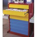 Meuble métallique 8 tiroirs à aménager à la carte avec garnissage des tiroirs en option