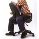 Chaise de travail speciale ADO à roulettes sans accoudoir mécanisme CPT dos et assise tissu 8 couleurs tendance