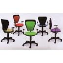 Chaise de travail speciale ENFANTS à roulettes sans accoudoir mécanisme CPT dos et assise tissu 8 couleurs tendance