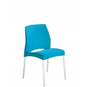 Chaise Pour EXTERIEUR INTERIEUR En PPP Trait Anti UV Pieds Alu Anodis 5 Coloris Au Choix