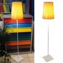 Lampadaire d'ambiance mi-hauteur h155cm avec abat-jour en PVC couleur, lumière Fluo